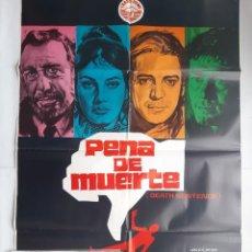 Cine: ANTIGUO CARTEL CINE PENA DE MUERTE + 12 FOTOCROMOS 1973 JANO CC141. Lote 203822467