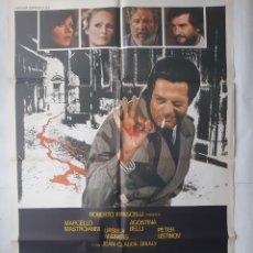 Cine: ANTIGUO CARTEL CINE DOBLE ASESINATO + 12 FOTOCROMOS 1978 CC142. Lote 203824045