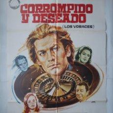Cine: ANTIGUO CARTEL CINE CORROMPIDO Y DESEADO + 12 FOTOCROMOS 1973 JANO CC144. Lote 203825652