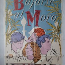 Cine: ANTIGUO CARTEL CINE BAJARSE AL MORO + 12 FOTOCROMOS CC151. Lote 203844865