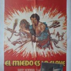 Cine: ANTIGUO CARTEL CINE EL MIEDO ES LA CLAVE + 12 FOTOCROMOS 1973 CC154. Lote 203851138