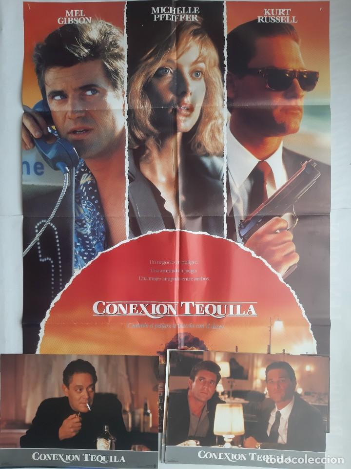 ANTIGUO CARTEL CINE CONEXION TEQUILA + 12 FOTOCROMOS 1989 CC159 (Cine - Posters y Carteles - Acción)