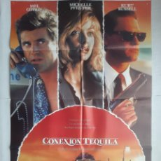 Cine: ANTIGUO CARTEL CINE CONEXION TEQUILA + 12 FOTOCROMOS 1989 CC159. Lote 203851201