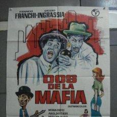 Cine: CDO 2231 DOS DE LA MAFIA FRANCO FRANCHI CICCIO INGRASSIA POSTER ORIGINAL 70X100 ESTRENO. Lote 203892355