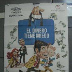 Cine: CDO 2237 EL DINERO TIENE MIEDO TONY LEBLANC MANOLO GOMEZ BUR MONTALBAN POSTER ORIG 70X100 ESTRENO. Lote 203893198