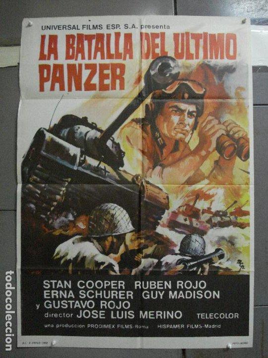CDO 2248 LA BATALLA DEL ULTIMO PANZER RUBEN GUSTAVO ROJO GUY MADISON POSTER ORIGINAL 70X100 ESTRENO (Cine - Posters y Carteles - Bélicas)