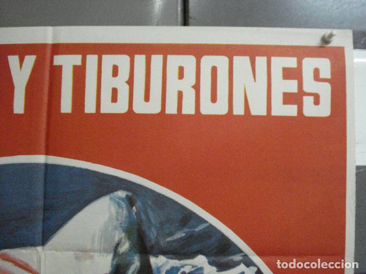 Cine: CDO 2251 HOMBRES Y TIBURONES SUBMARINISMO DOCUMENTAL POSTER ORIGINAL 70X100 ESTRENO - Foto 6 - 203900388