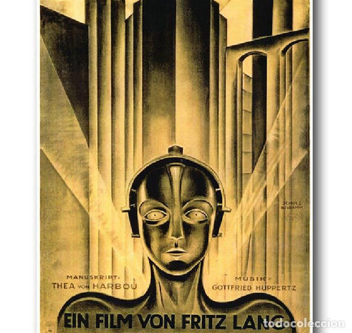 Cine: cartel en tela película Metropolis de Fritz Lang - Foto 3 - 200321205