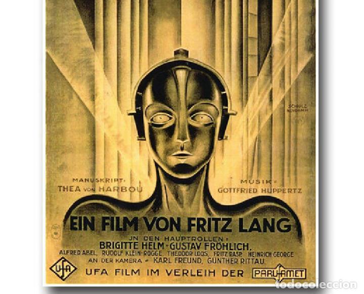 Cine: cartel en tela película Metropolis de Fritz Lang - Foto 4 - 200321205