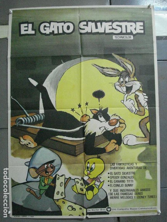 CDO 2265 EL GATO SILVESTRE SPEEDY GONZALES BUGS BUNNY LOONEY TUNES WARNER POSTER ORIGINAL 70X100 (Cine - Posters y Carteles - Infantil)