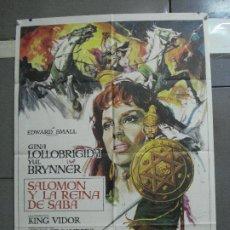 Cine: CDO 2271 SALOMON Y LA REINA DE SABA GINA LOLLOBRIGIDA POSTER ORIGINAL 70X100 ESPAÑOL R-75. Lote 203978262