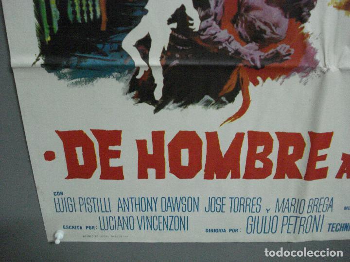 Cine: CDO 2274 DE HOMBRE A HOMBRE LEE VAN CLEEF SPAGHETTI POSTER ORIGINAL 70X100 ESTRENO - Foto 5 - 203981662