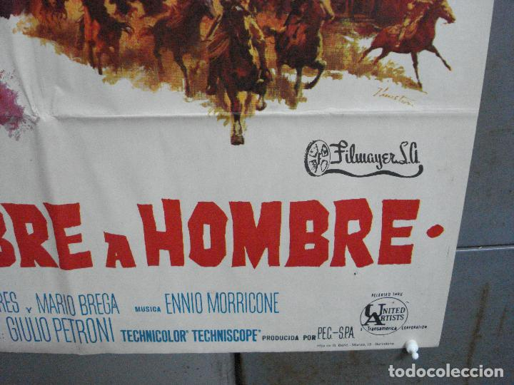 Cine: CDO 2274 DE HOMBRE A HOMBRE LEE VAN CLEEF SPAGHETTI POSTER ORIGINAL 70X100 ESTRENO - Foto 9 - 203981662