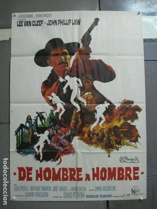 CDO 2274 DE HOMBRE A HOMBRE LEE VAN CLEEF SPAGHETTI POSTER ORIGINAL 70X100 ESTRENO (Cine - Posters y Carteles - Westerns)