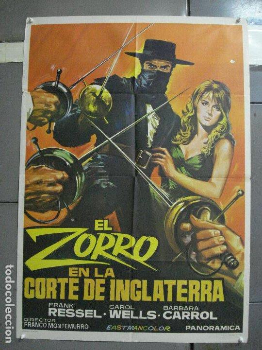 CDO 2275 ZORRO EN LA CORTE DE INGLATERRA SPIROS FOCAS SPAGHETTI POSTER ORIGINAL 70X100 ESTRENO (Cine - Posters y Carteles - Westerns)