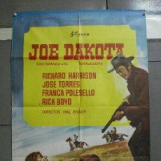 Cine: CDO 2285 JOE DAKOTA RICHARD HARRISON SPAGHETTI POSTER ORIGINAL 70X100 ESTRENO. Lote 203992583