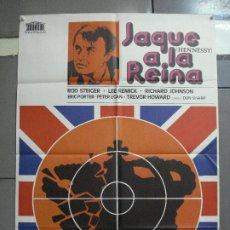 Cine: CDO 2289 JAQUE A LA REINA ROD STEIGER LEE REMICK POSTER ORIGINAL 70X100 ESTRENO. Lote 203997765