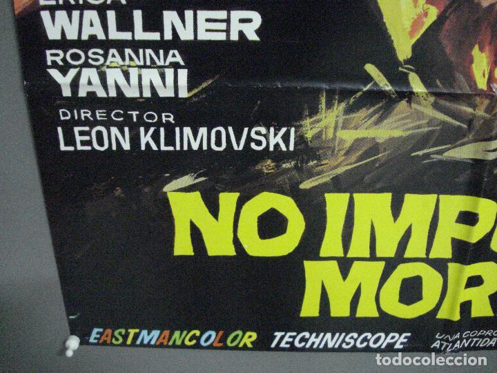 Cine: CDO 2294 NO IMPORTA MORIR TAB HUNTER LEON KLIMOVSKY POSTER ORIGINAL 70X100 ESTRENO - Foto 5 - 204001015