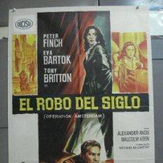 Cine: CDO 2295 EL ROBO DEL SIGLO PETER FINCH EVA BARTOK SOLIGO POSTER ORIGINAL 70X100 ESPAÑOL R-71. Lote 204001212