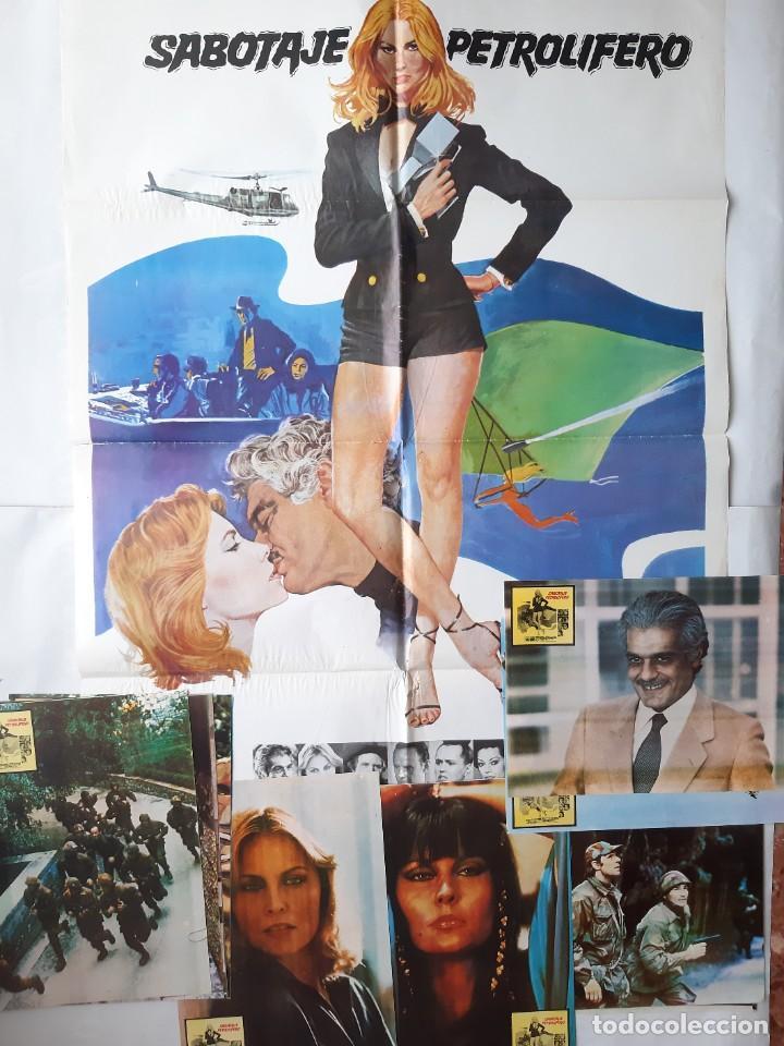ANTIGUO CARTEL CINE SABOTAJE PETROLIFERO + 12 FOTOCROMOS 1981 CC163 (Cine - Posters y Carteles - Acción)