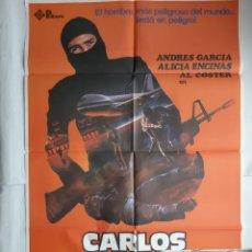 Cine: ANTIGUO CARTEL CINE CARLOS EL TERRORISTA + 12 FOTOCROMOS 1980 CC165. Lote 204001716
