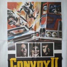Cine: ANTIGUO CARTEL CINE CONVOY II + 10 FOTOCROMOS 1978 CC168. Lote 204002555