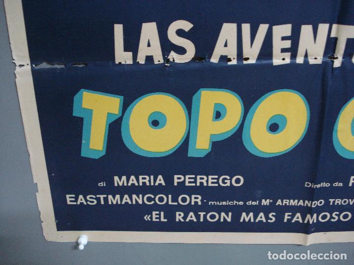 Cine: CDO 2308 LAS AVENTURAS DE TOPO GIGIO POSTER ORIGINAL 70X100 ESTRENO - Foto 5 - 204004997