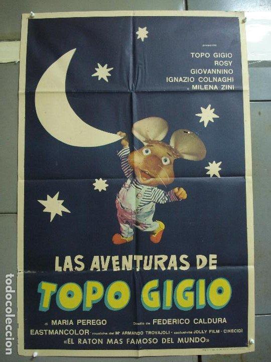 CDO 2308 LAS AVENTURAS DE TOPO GIGIO POSTER ORIGINAL 70X100 ESTRENO (Cine - Posters y Carteles - Infantil)