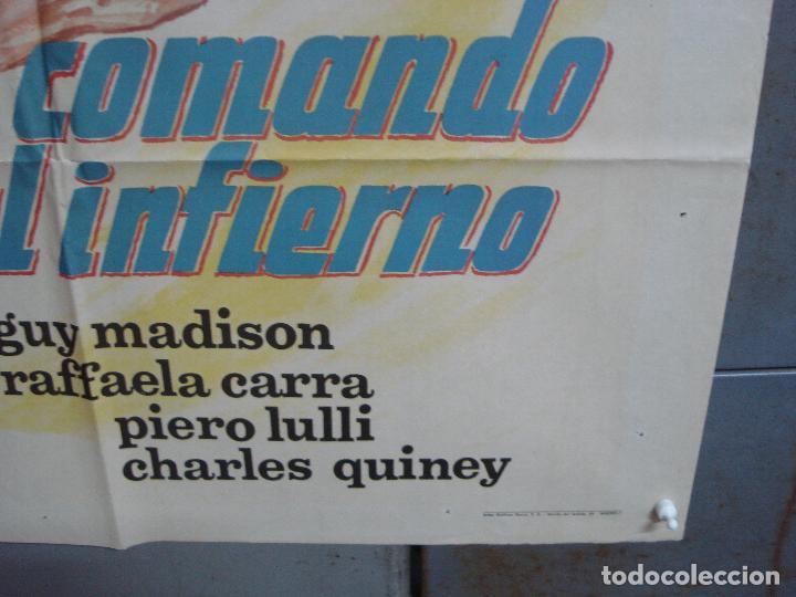 Cine: CDO 2307 COMANDO AL INFIERNO GUY MADISON RAFFAELLA CARRA POSTER ORIGINAL 70X100 ESTRENO - Foto 9 - 204005052