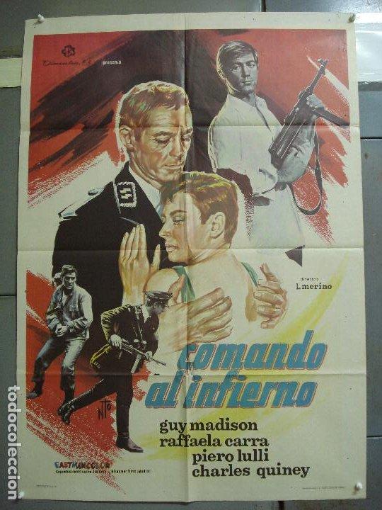 CDO 2307 COMANDO AL INFIERNO GUY MADISON RAFFAELLA CARRA POSTER ORIGINAL 70X100 ESTRENO (Cine - Posters y Carteles - Bélicas)
