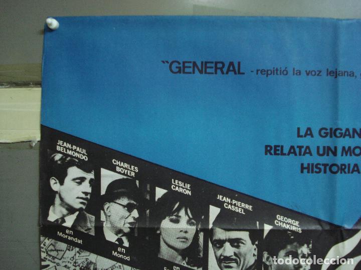 Cine: CDO 2325 ARDE PARIS BELMONDO DELON DOUGLAS POSTER ORIGINAL 70X100 ESTRENO - Foto 2 - 204054355