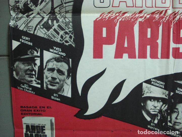 Cine: CDO 2325 ARDE PARIS BELMONDO DELON DOUGLAS POSTER ORIGINAL 70X100 ESTRENO - Foto 4 - 204054355
