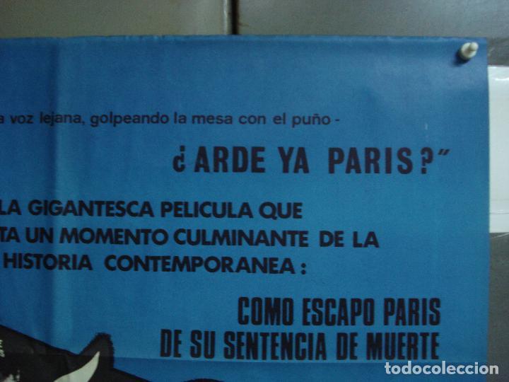 Cine: CDO 2325 ARDE PARIS BELMONDO DELON DOUGLAS POSTER ORIGINAL 70X100 ESTRENO - Foto 6 - 204054355