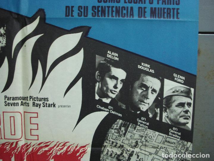 Cine: CDO 2325 ARDE PARIS BELMONDO DELON DOUGLAS POSTER ORIGINAL 70X100 ESTRENO - Foto 7 - 204054355