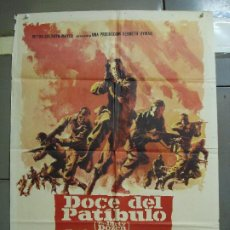 Cine: CDO 2332 DOCE DEL PATIBULO LEE MARVIN CHARLES BRONSON POSTER ORIGINAL 70X100 ESTRENO. Lote 204056660