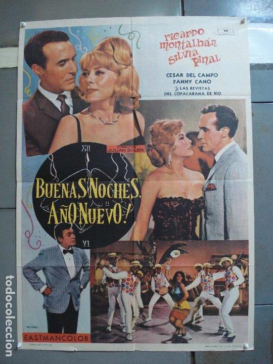 CDO 2338 BUENAS NOCHES AÑO NUEVO RICARDO MONTALBAN SILVIA PINAL POSTER ORIGINAL 70X100 ESTRENO (Cine - Posters y Carteles - Westerns)