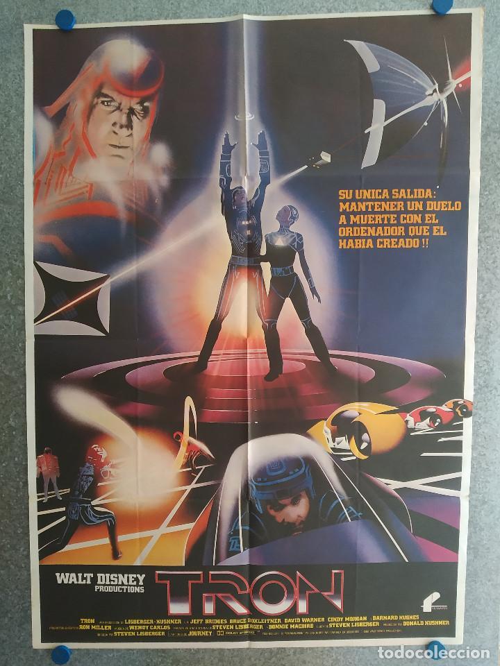 TRON. JEFF BRIDGES, BRUCE BOXLEITNER, DAVID WARNER. AÑO 1982. POSTER ORIGINAL (Cine - Posters y Carteles - Ciencia Ficción)