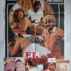 Cine: ANTIGUO CARTEL CINE EL MASAJISTA + 8 FOTOCROMOS 1979 CC178. Lote 204100488