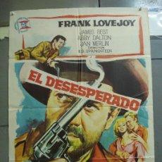 Cine: CDO 2339 EL DESESPERADO FRANK LOVEJOY JANO WESTERN POSTER ORIGINAL 70X100 ESTRENO. Lote 204119787