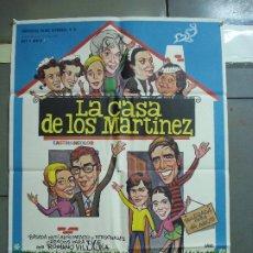 Cine: CDO 2342 LA CASA DE LOS MARTINEZ JULIA MARTINEZ RAFAELA APARICIO POSTER ORIGINAL 70X100 ESTRENO. Lote 204121262
