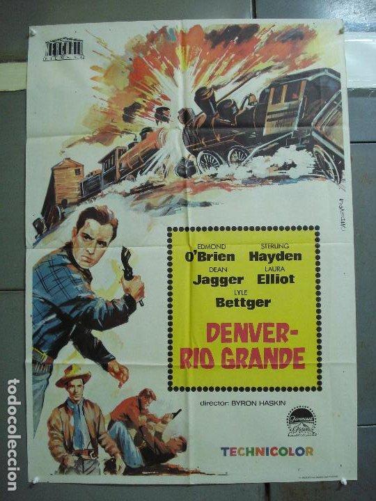 CDO 2345 DENVER RIO GRANDE EDOMND O'BRIEN STERLING HAYDEN POSTER ORIGINAL 70X100 ESTRENO (Cine - Posters y Carteles - Westerns)