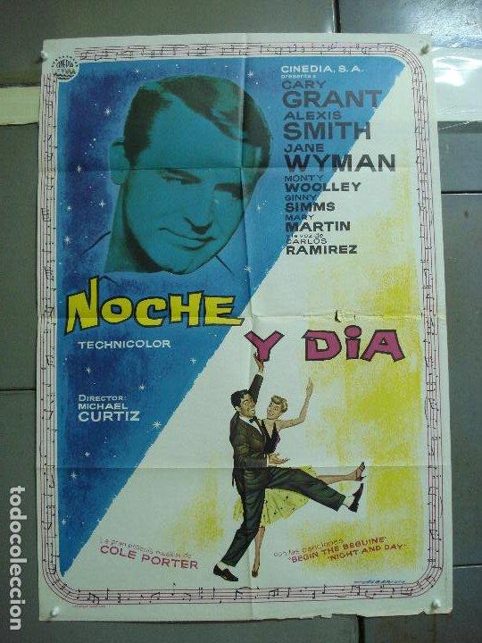 CDO 2350 NOCHE Y DIA CARY GRANT ALBERICIO POSTER ORIGINAL 70X100 ESPAÑOL R-67 (Cine - Posters y Carteles - Musicales)
