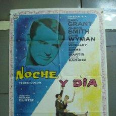Cine: CDO 2350 NOCHE Y DIA CARY GRANT ALBERICIO POSTER ORIGINAL 70X100 ESPAÑOL R-67. Lote 204140446