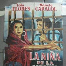 Cine: AAH29 LA NIÑA DE LA VENTA LOLA FLORES MANOLO CARACOL POSTER ORIGINAL 70X100 LITOGRAFIA. Lote 204160077