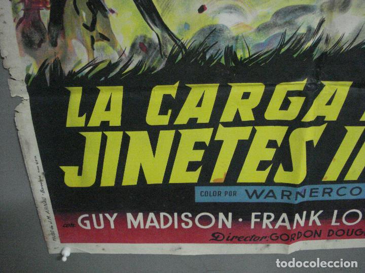 Cine: AAH36 LA CARGA DE LOS JINETES INDIOS SOLIGO GUY MADISON MILES POSTER ORIG 70X100 ESTRENO LITOGRAFIA - Foto 5 - 204164241