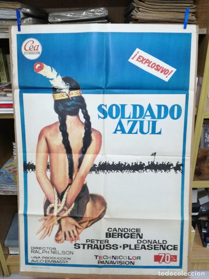 SOLDADO AZUL - 1972 - DE RALPH NELSON CON CANDICE BERGEN, PETER STRAUSS Y DONALD .100X70 CM (Cine - Posters y Carteles - Westerns)