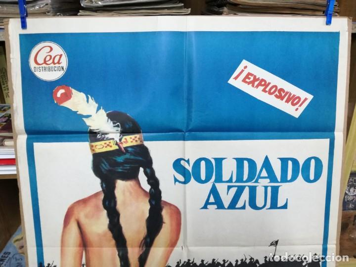 Cine: SOLDADO AZUL - 1972 - DE RALPH NELSON CON CANDICE BERGEN, PETER STRAUSS Y DONALD .100X70 CM - Foto 3 - 204166142
