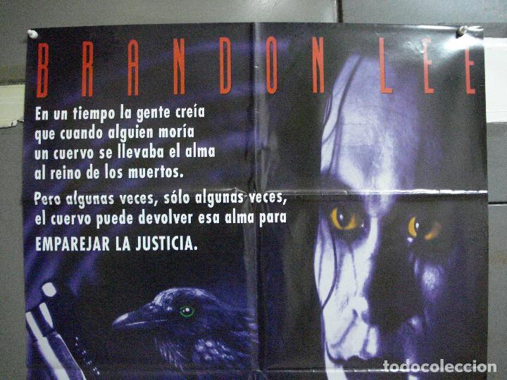 Cine: AAH44 EL CUERVO THE CROW BRANDON LEE POSTER ORIGINAL AMERICANO 70X100 ESTRENO EN ESPAÑOL - Foto 2 - 204170901