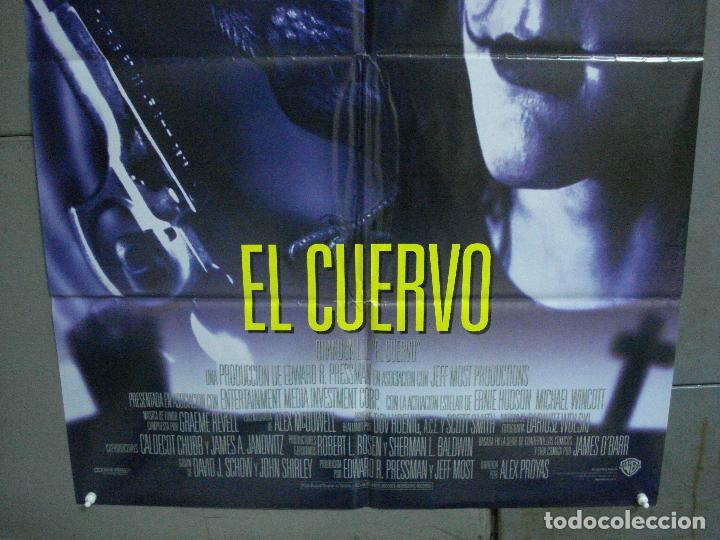 Cine: AAH44 EL CUERVO THE CROW BRANDON LEE POSTER ORIGINAL AMERICANO 70X100 ESTRENO EN ESPAÑOL - Foto 3 - 204170901