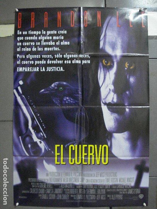AAH44 EL CUERVO THE CROW BRANDON LEE POSTER ORIGINAL AMERICANO 70X100 ESTRENO EN ESPAÑOL (Cine - Posters y Carteles - Ciencia Ficción)